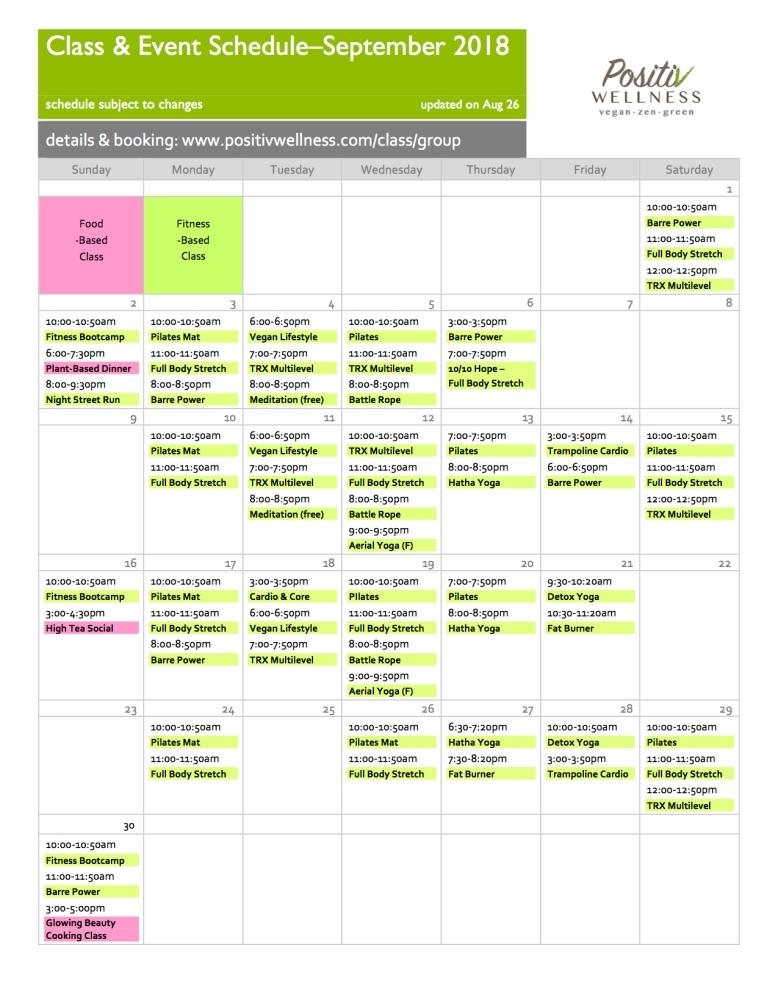 Positiv Sep18 class schedule 082618